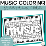 Music Coloring Worksheets FREE