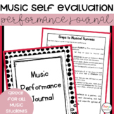 Music Performance and Self Reflection Journal