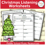 Christmas Music Listening Worksheets