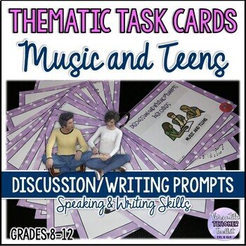 MUSIC AND TEENS BUNDLE (Mini Research Project and Discussion Task Cards)