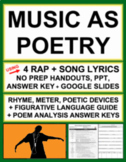 MUSIC AS POETRY: Teach poetry with rap & song lyrics