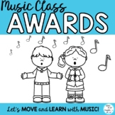 Music Class Awards with Editable Templates for Concerts, A