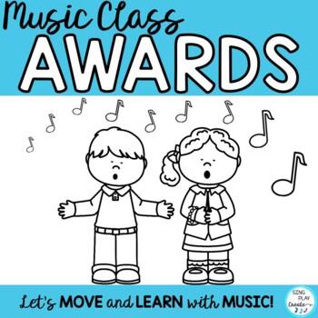 Music Class Awards with Editable Templates for Behavior En