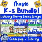 MUSIC Activities BUNDLE Bears Bugs Farm Safari Swat Rhythm