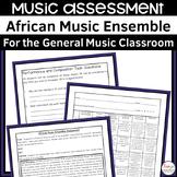 African Music Ensemble Assignment