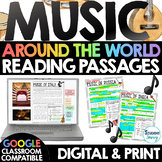 MUSIC Around the World Reading Passages   Distance Learnin