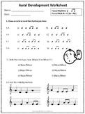 MUSIC WORKSHEET: Aural Develop Activities