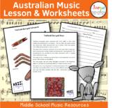 Australian Music Lessons & Worksheets