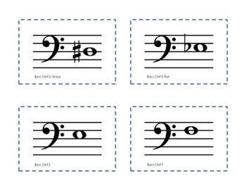 Music BINGO: Treble and Bass Clef