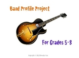 MUSIC: Band & Recording Artist Profile Project