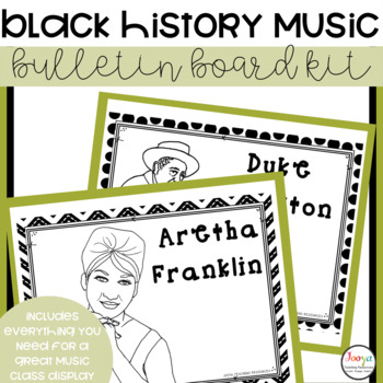 MUSIC- Bulletin Board Kit - Black History Month