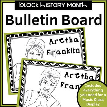 MUSIC- Bulletin Board Kit - Black History Month