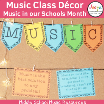 MUSIC- Bulletin Board Kit - Music in our Schools Month
