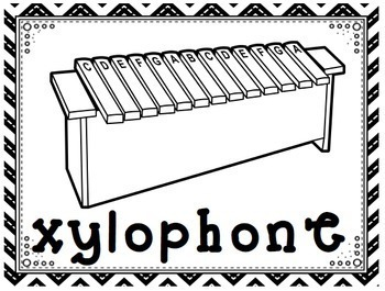 MUSIC- Bulletin Board Kit - Orff and Kodaly Instruments