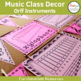Music Class Decor - Orff Instruments
