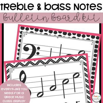 Music Class Decor - Treble and Bass Clef