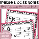 Music Class Decor - Treble and Bass Clef