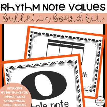 MUSIC- Bulletin Board Kit - Rhythm and Note Values
