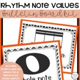 Rhythm and Note Values Music Classroom Decor