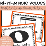 Music Class Decor - Rhythm and Note Values