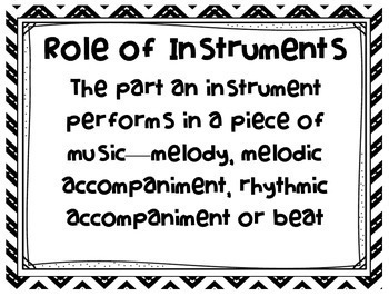 MUSIC - Bulletin Board - The Role of Instruments
