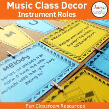 Music Class Decor - The Role of Instruments