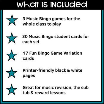 MUSIC: Bundled Music Bingo Games - Treble Clef and Music Symbols