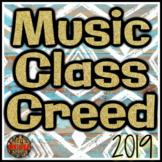 MUSIC CLASS CREED POSTER - ENCOURAGING COLOR PRINTABLE - PDF - Bulletin Board