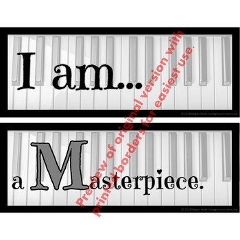 MUSIC CLASS CREED POSTER - ENCOURAGING PRINTABLE - PDF/PPT - Bulletin Board BTS