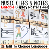 MUSIC CLASS DECOR: EDITABLE DISPLAY POSTERS: MUSIC CLEFS A