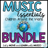 Music Class World Theme Songs, Activities, Chants, Games, Lessons, Decor BUNDLE