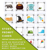 MUSIC COMPOSITION STORY Prompt Cards - Digital pdf - Insta