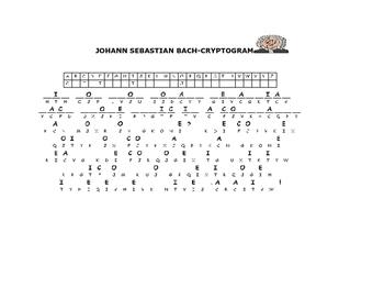 MUSIC CRYPTOGRAM: BACH