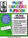 MUSIC Career Flip-Book: each page is a different job in th