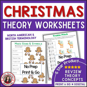 Christmas Music Activities: 24 Christmas Music Worksheets