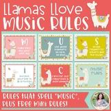 MUSIC Classroom Rules: Llamas Llove Music Rules! {Music Cl