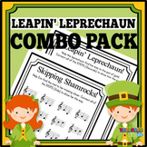 MUSIC: Combo Pack St Patrick's Day Themed Interval Worksheet Printables