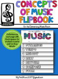 MUSIC Concepts Flip-Book: dynamics, tempo, melody, beat, r