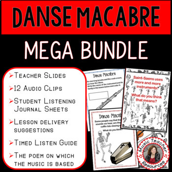 Danse Macabre BUNDLE: Halloween Music Activities for Halloween Music Lessons