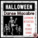 Halloween Music: Danse Macabre PPT & Music Listening Worksheets Grades 5-8