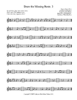 MUSIC Draw the Missing REST in the Rhythm 3