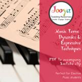 MUSIC - Dynamics & Expressive Techniques Terms