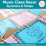 Dynamics and Tempo Music Classroom Decor