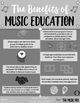 MUSIC EDUCATION Benefits Infographic - FREEBIE!