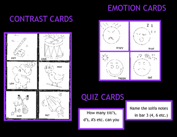 MUSIC EMOTION, CONTRAST AND QUIZ CARDS