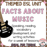 Music Genre and Reggae ESL/ELL Unit Speaking, Reading and Writing Activities