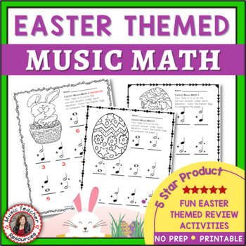 Easter Music Activities: Easter Music Math