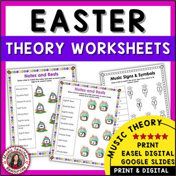 MUSIC: Easter Themed Worksheets