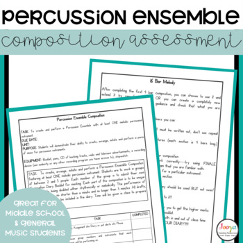 MUSIC - Elective Music Percussion Ensemble Composition