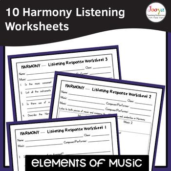 MUSIC- Elements of Music HARMONY Listening Analysis